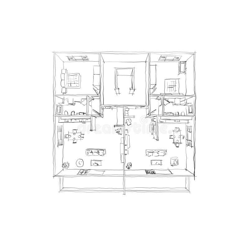 Cool Download Main Leve De Dessin De Croquis La Maison Meubl With Comment  Dessiner Un Plan D Appartement With Comment Dessiner Un Meuble