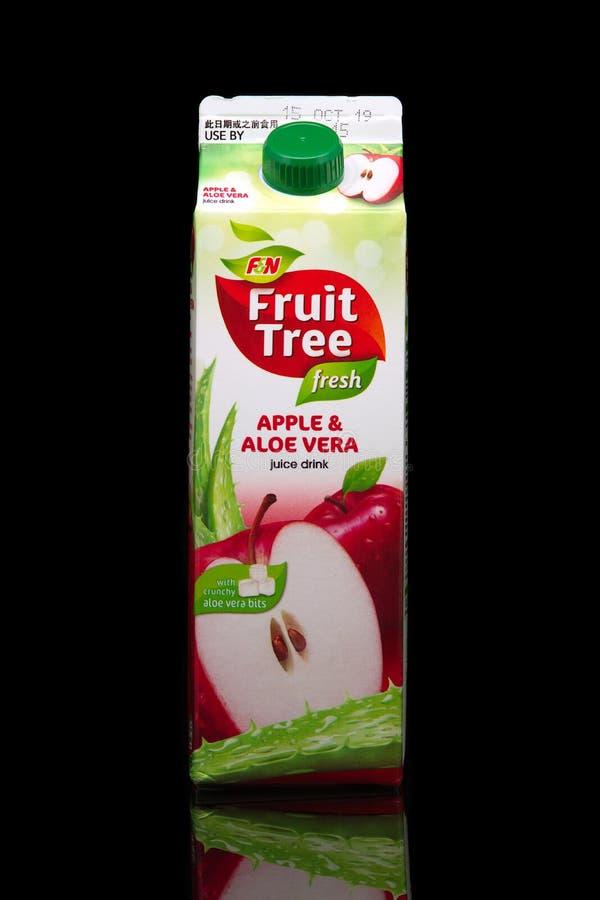 Illustration éditoriale boisson Fruit Tree Apple Aloe Vera de F&N images stock