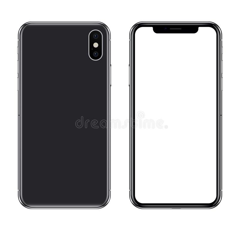 Illustration ?ditoriale de vecteur d'Iphone X illustration libre de droits