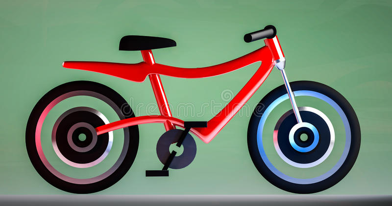 Illustration électrique de la bicyclette 3d illustration de vecteur