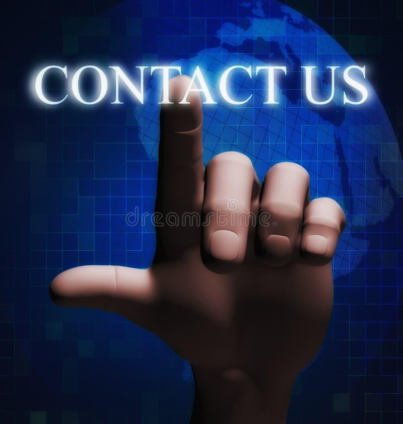 illustration émouvante de contactez-nous du doigt 3d illustration de vecteur