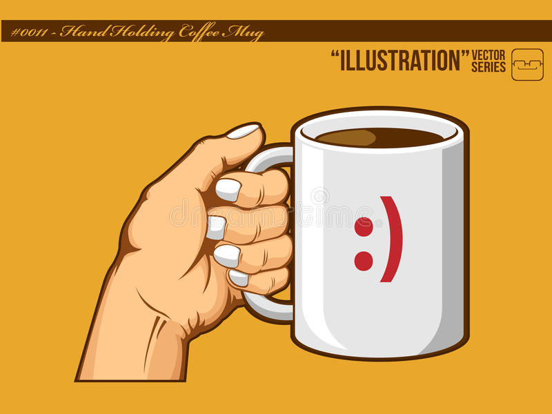 Download Illustration #0011 - Hand Holding Coffee Mug Stock Vector - Image: 21047370