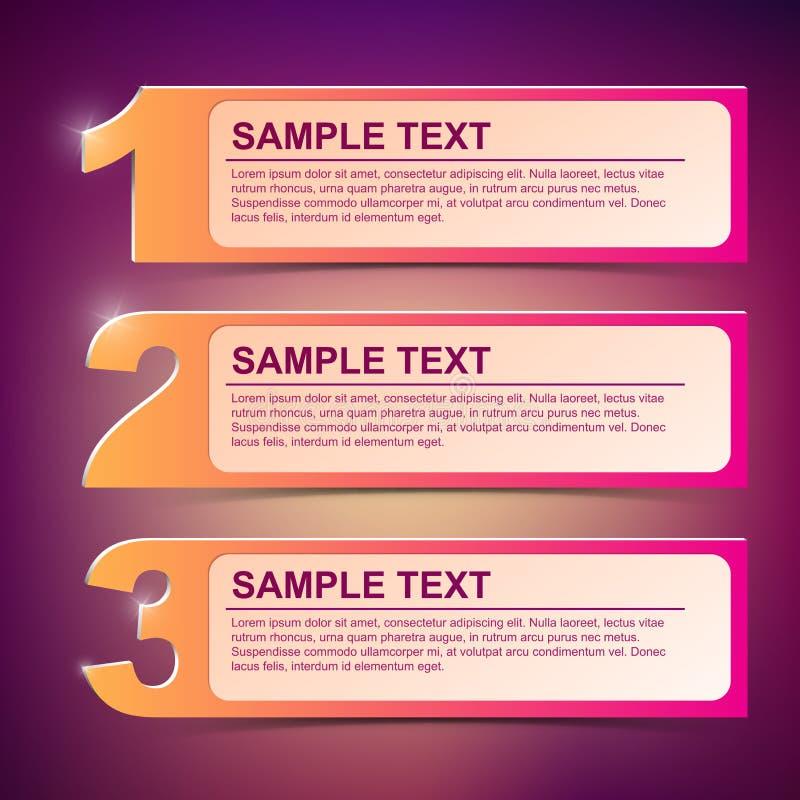 Illustration 1-2-3 de trame des textes de vecteur illustration libre de droits