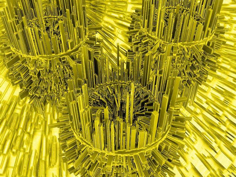 Illustration 3d abstraite illustration de vecteur