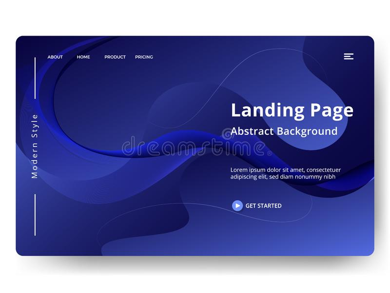 Illustration. Abstract background website Landing Page. template for web landing page, banner, presentation. Abstract vector modern style, dynamic, wallpaper stock illustration