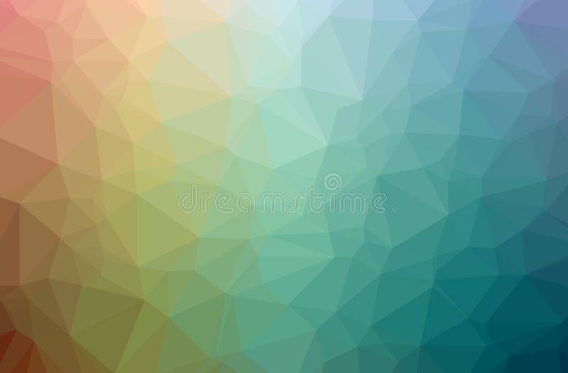 Illustration of abstract Blue And Brown horizontal low poly background. Beautiful polygon design pattern vector illustration