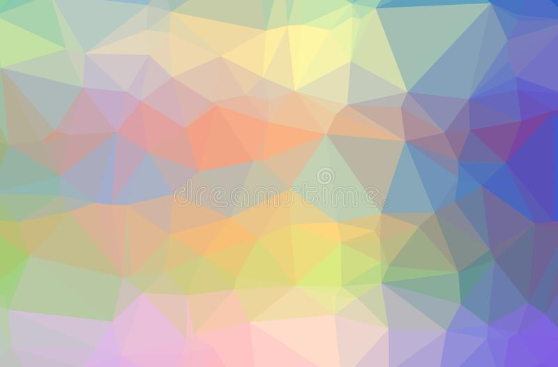 Illustration of abstract Blue, Green, Orange horizontal low poly background. Beautiful polygon design pattern stock illustration