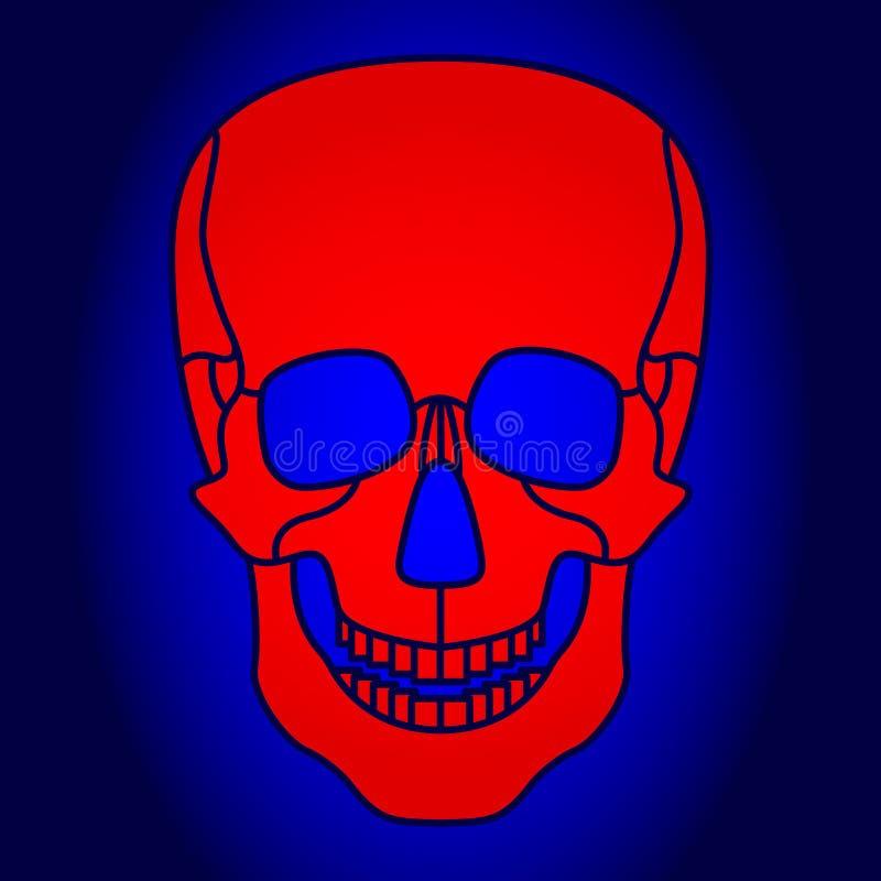 Abstract skul icon. Illustration of the abstract cartoon spooky skull icon stock illustration