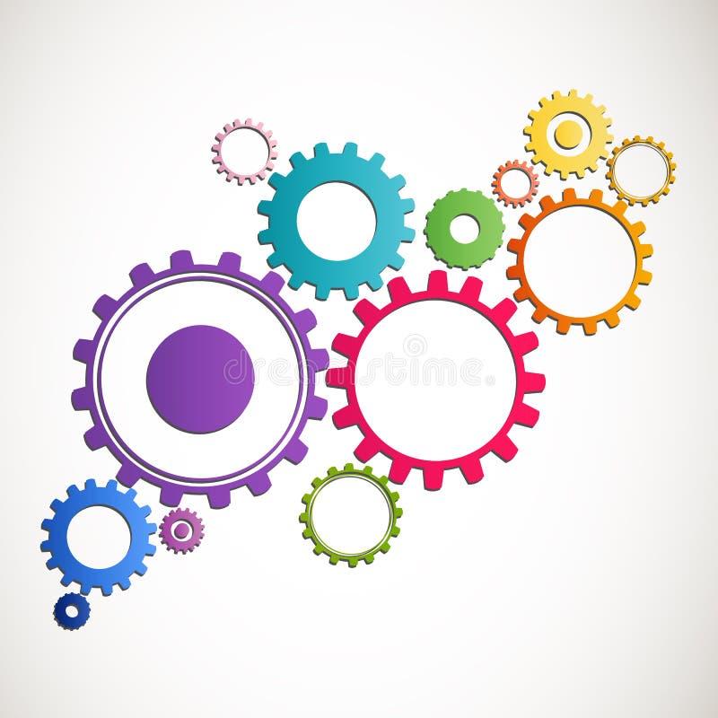 Cog wheels. Illustration of Abstract colorful Cog Wheels vector illustration