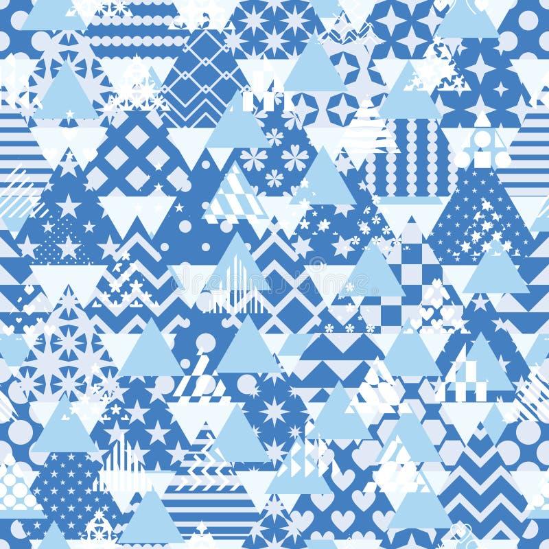Triangle pattern cut many free symmetry seamless pattern vector illustration