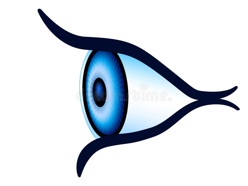 eye side view stock vector illustration of human lookout 109863994 rh dreamstime com