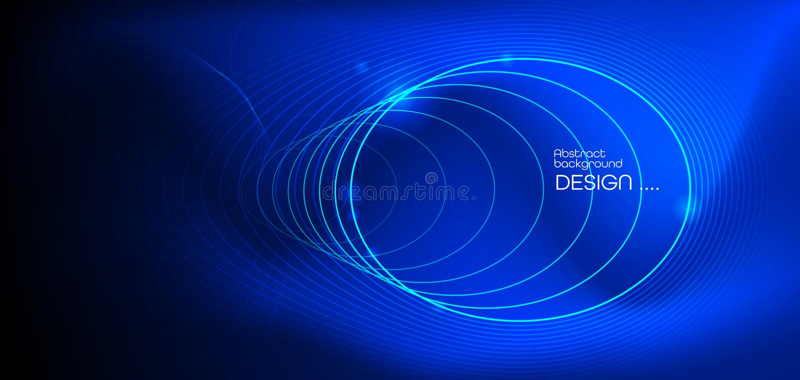Illustration Abstract glowing, neon light effect, wave line, wavy pattern. Vector design communication techno on blue background vector illustration
