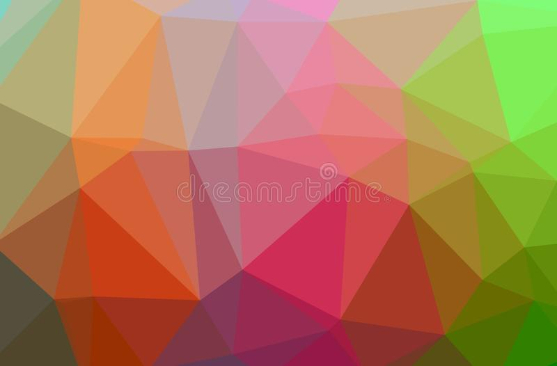Illustration of abstract Green, Orange, Pink, Red horizontal low poly background. Beautiful polygon design pattern royalty free illustration