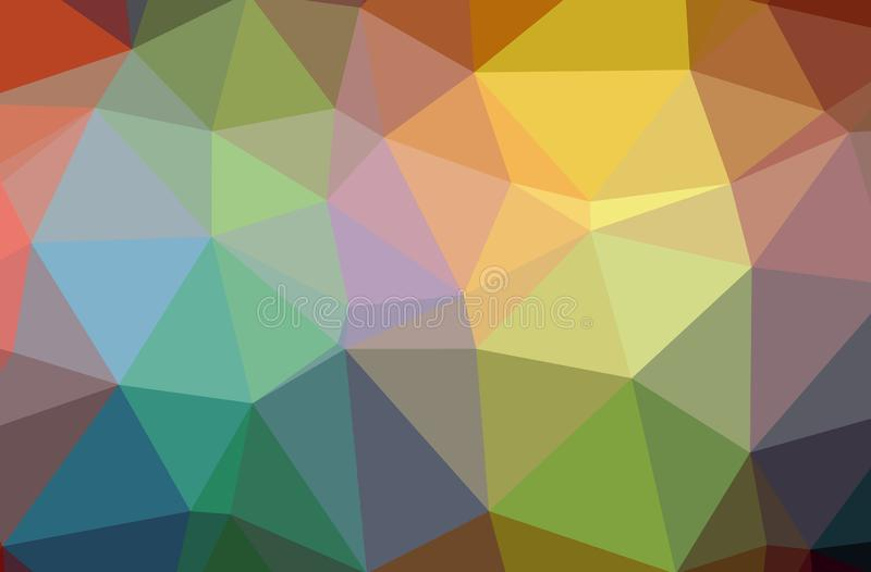 Illustration of abstract Green, Orange, Pink, Red horizontal low poly background. Beautiful polygon design pattern vector illustration