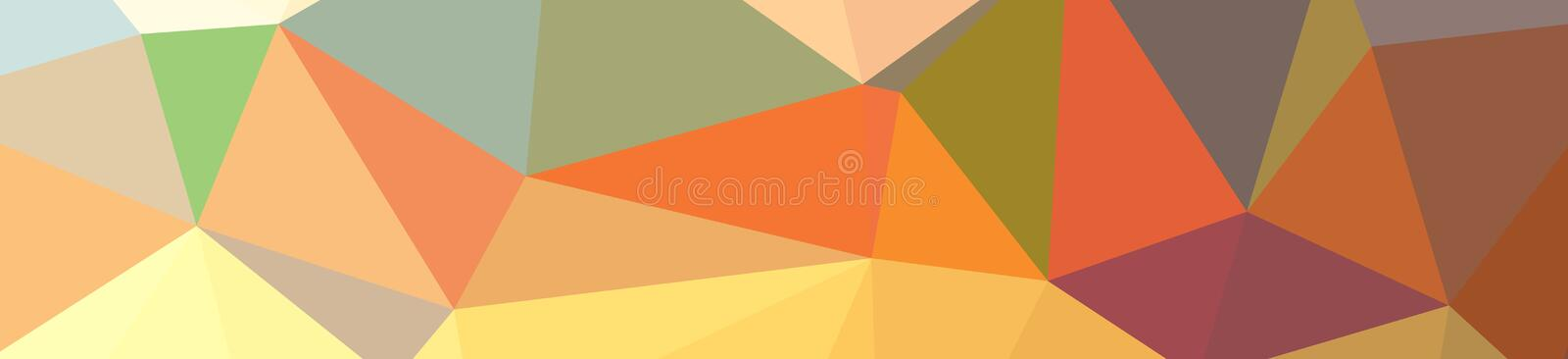 Illustration of abstract Green, Orange, Yellow banner low poly background. Beautiful polygon design pattern royalty free illustration