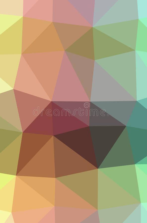 Illustration of abstract Green, Orange, Yellow vertical low poly background. Beautiful polygon design pattern vector illustration