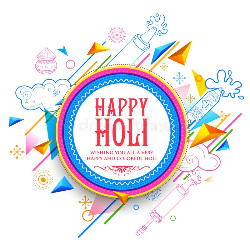 Abstract Happy Holi Background for Festival of Colors celebration greetings. Illustration of abstract Happy Holi Background for Festival of Colors celebration royalty free illustration