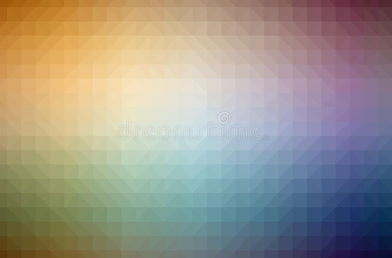 Illustration of abstract Orange horizontal low poly background. Beautiful polygon design pattern. Useful for your needs stock illustration