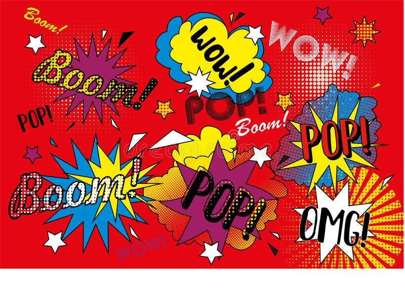 Red pop art background royalty free stock photography