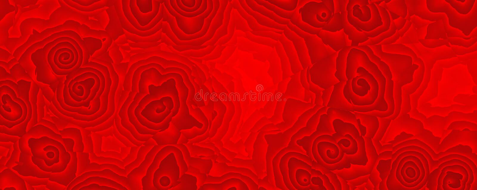 Painting abstract red rose pattern stock photography
