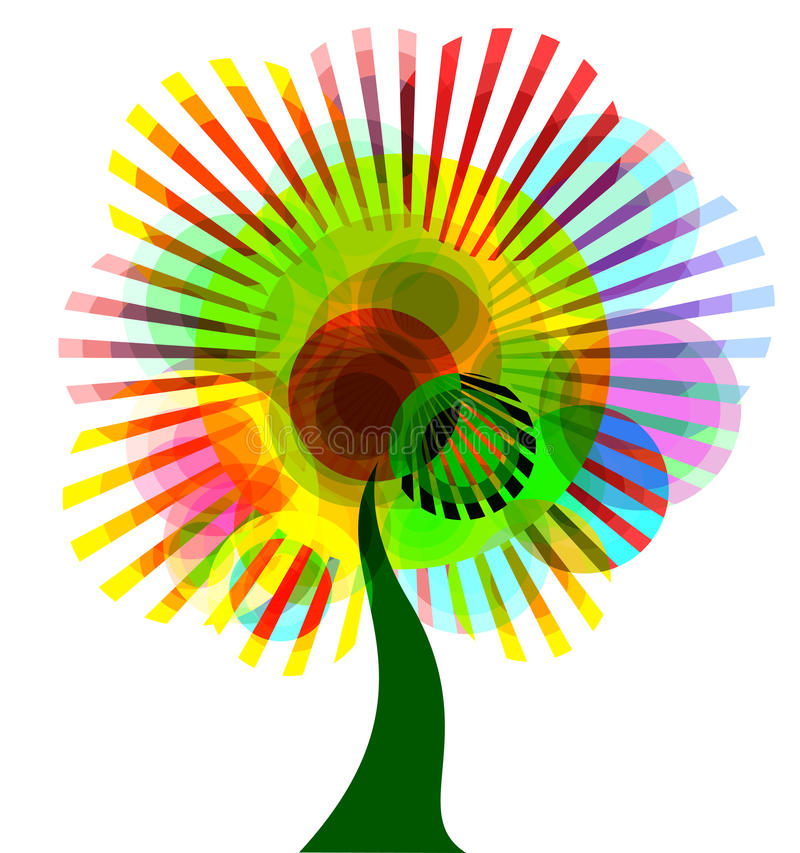 Illustration Of An Abstract Tree. EPS 10 Royalty Free Stock Photos