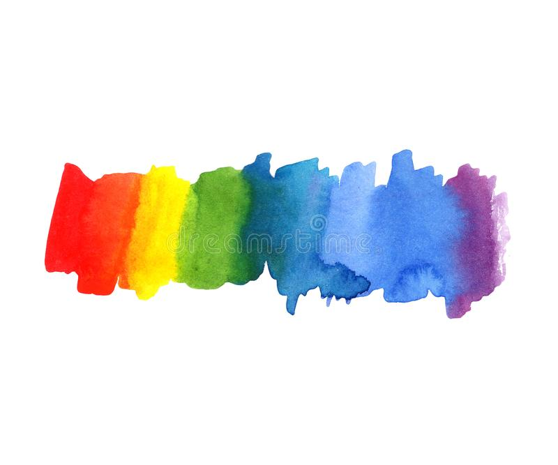 Illustration Abstract watercolor rainbow color blot background. Color spectrum stock illustration