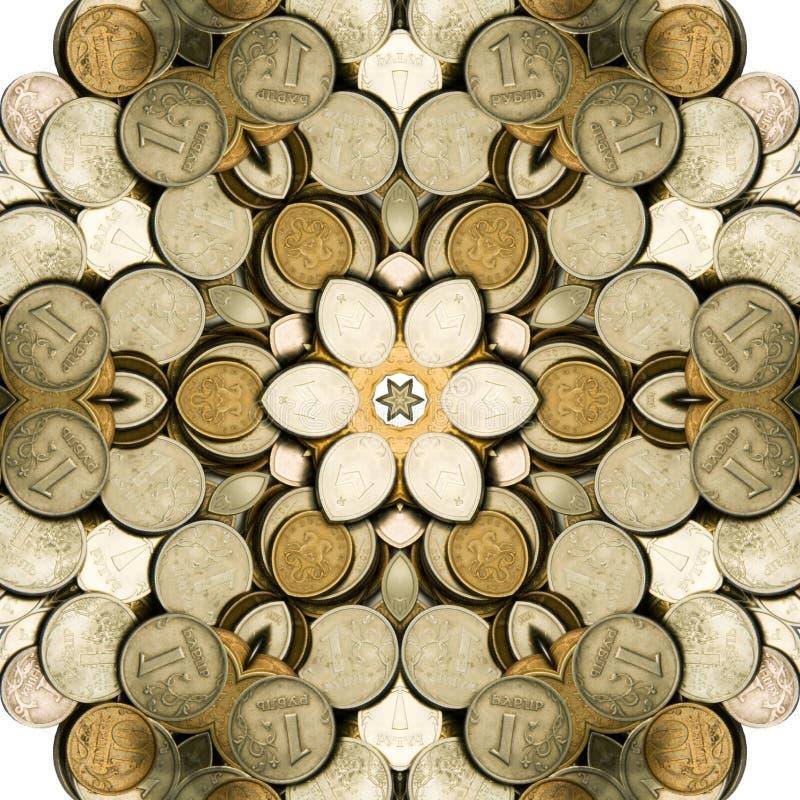 Illustration abstraite avec de l'argent. images stock