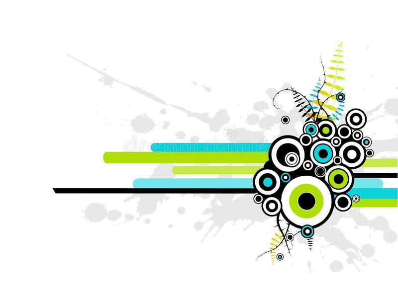 Illustration abstraite avec des cercles. illustration libre de droits