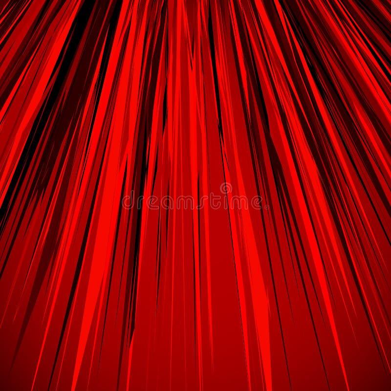 Illustration abstraite avec les lignes sales dynamiques PA texturisée de rouge illustration stock