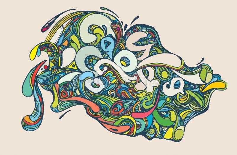 Download Illustration Abstraite Colorée Illustration de Vecteur - Illustration du vibrant, bleu: 8668350