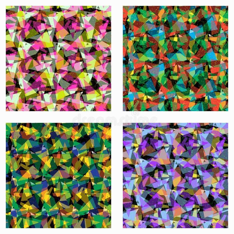 Illustration abstraite colorée de vecteur de fond de triangles illustration de vecteur