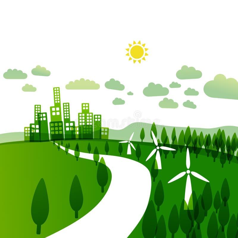 Illustration abstraite d'écologie illustration libre de droits