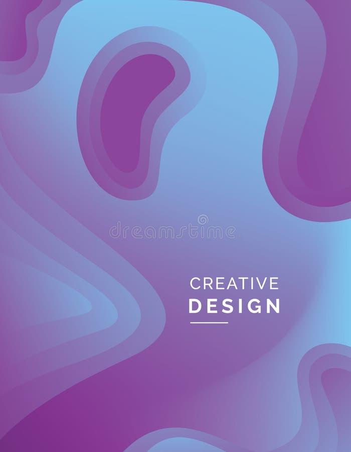 Illustration abstraite d'art de papier de la couleur 3d photos libres de droits
