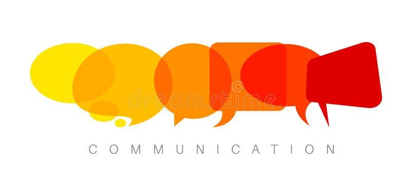 Illustration abstraite de concept de communication de vecteur illustration libre de droits