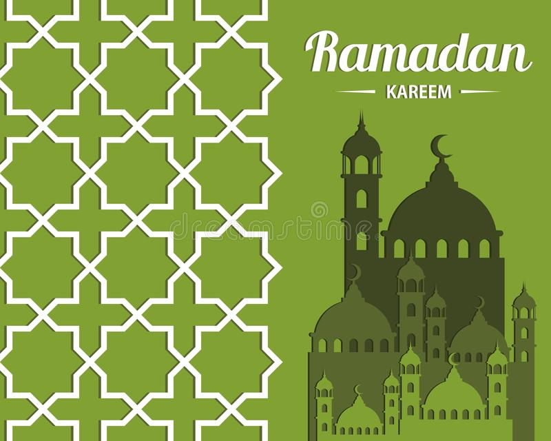 Illustration abstraite de ` de Ramadan Kareem de ` pour la célébration islamique images libres de droits