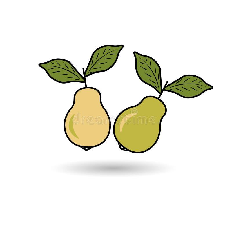 Illustration abstraite de deux poires vertes illustration libre de droits