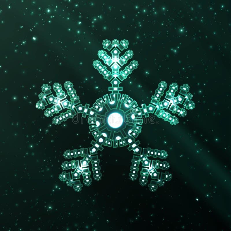 Illustration abstraite de flocon de neige d'imagination illustration stock