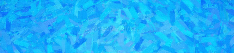 Illustration abstraite de fond abstrait bleu de bannière de peinture à l'huile d'embusqué, digitalement produite images libres de droits
