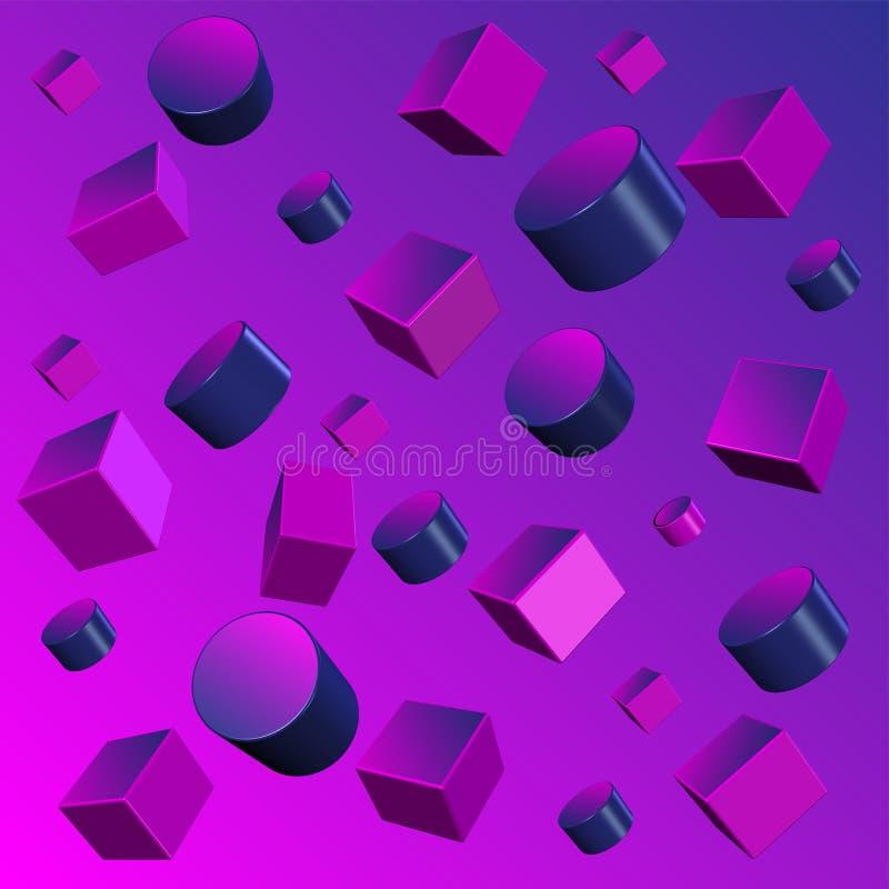illustration abstraite de fond des formes 3D géométriques illustration de vecteur