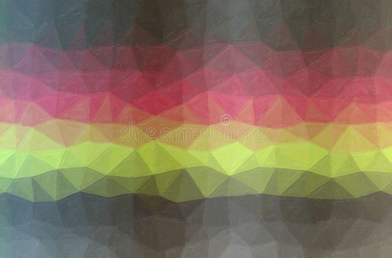 Illustration abstraite de fond gris, jaune et rouge de peinture à l'huile de contraste image libre de droits