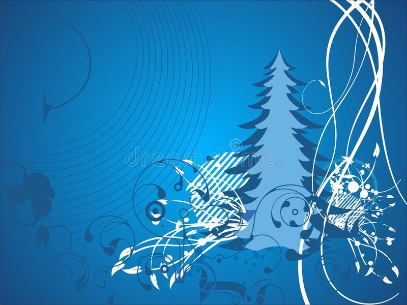 Illustration abstraite de Noël   illustration stock