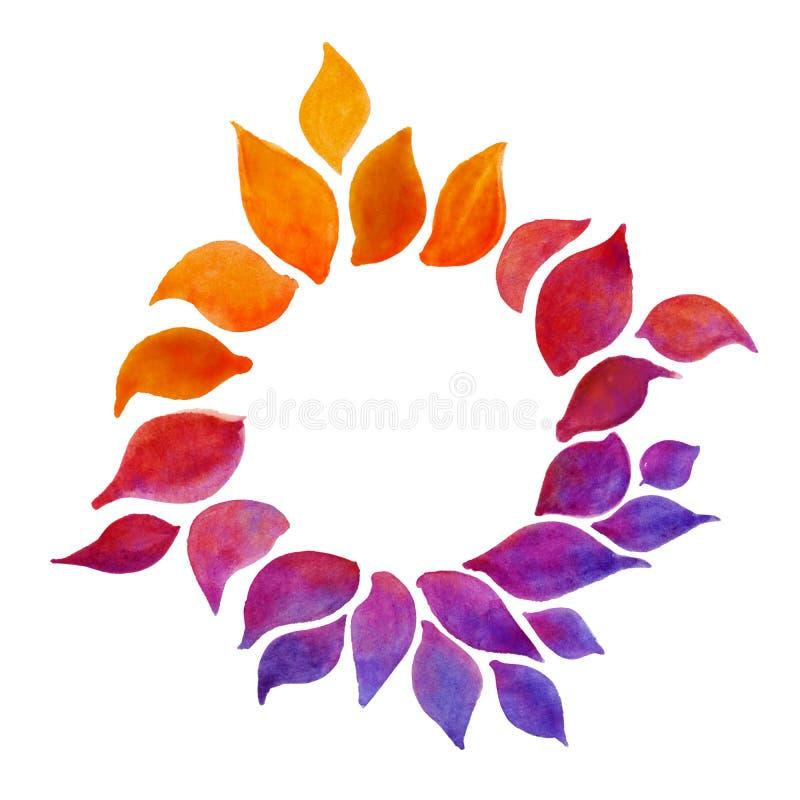 Illustration abstraite de pétales de fleur d'aquarelle d'isolement sur le fond blanc images stock