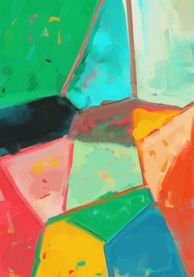 Illustration abstraite de peinture à l'huile de style d'expressioniste sur la toile illustration de vecteur