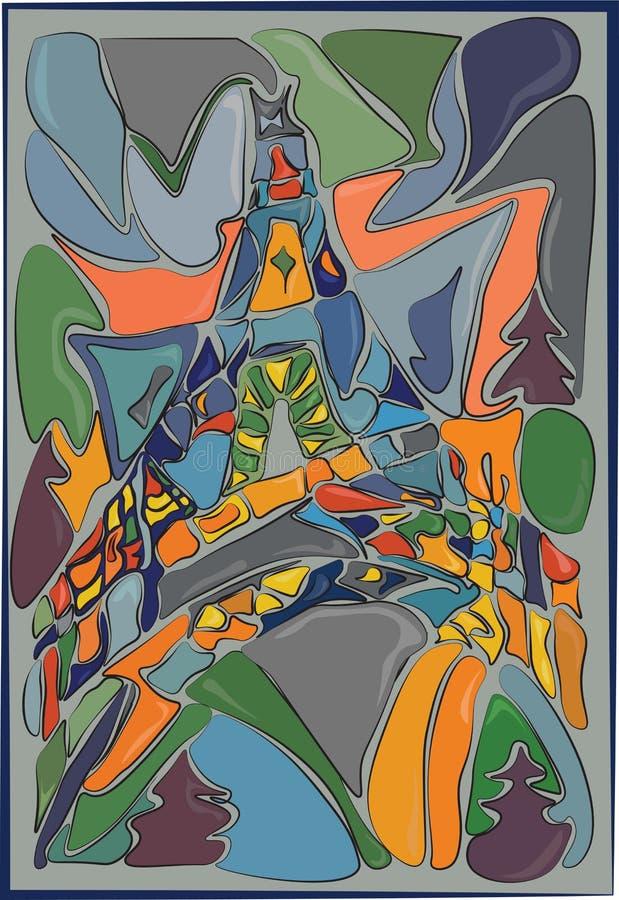 Illustration abstraite de Tour Eiffel illustration de vecteur