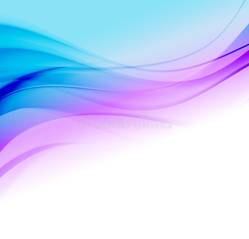 Illustration abstraite de vague de mouvement illustration stock