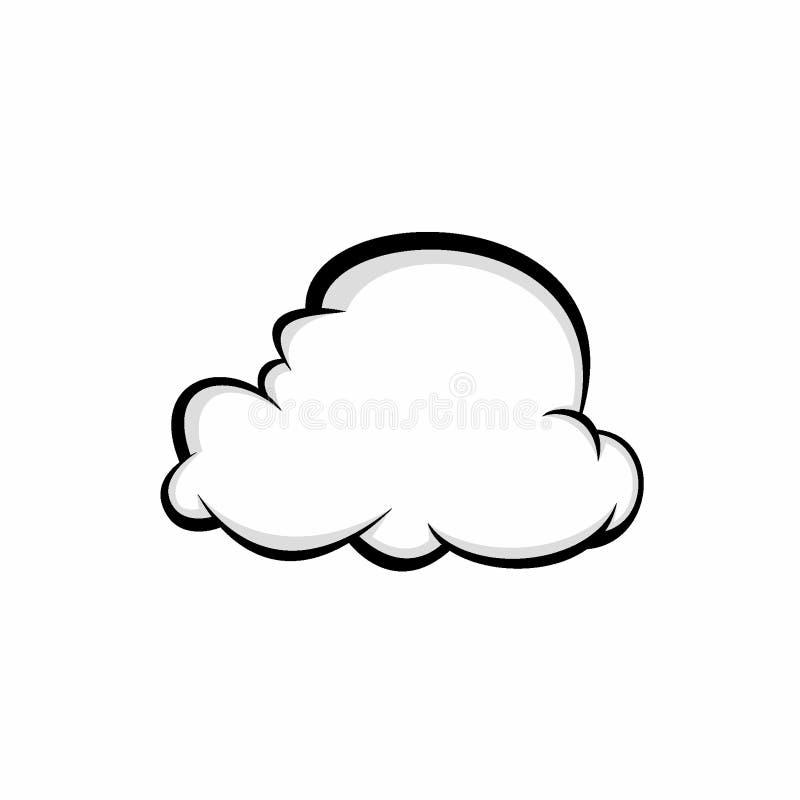 Illustration abstraite de vecteur de conception de nuage illustration stock