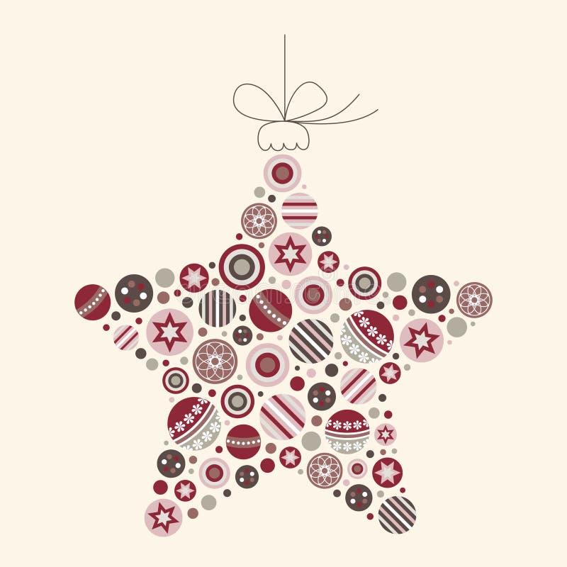 Illustration abstraite de vecteur d'étoile de Noël illustration de vecteur