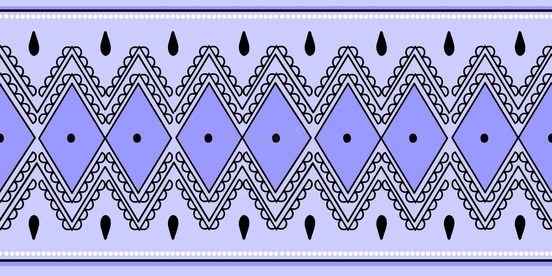 Illustration abstraite de vecteur d'Africain de modèle de fond aztèque de Bohème sans couture ethnique tribal coloré de modèles p illustration stock