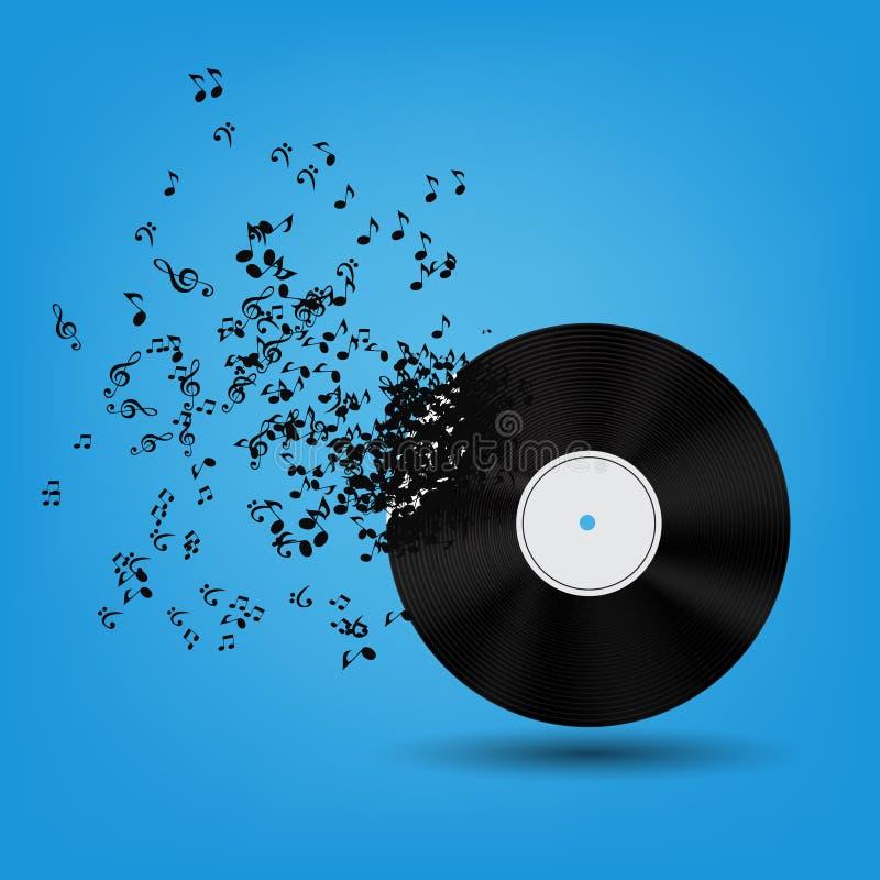 Illustration abstraite de vecteur de fond de musique pour illustration libre de droits