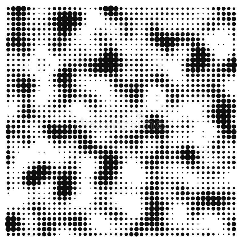 Illustration abstraite de vecteur faite dans le modèle génératif de bruit de vecteur de style d'art Élément tramé de vecteur de c illustration de vecteur